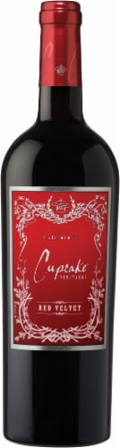 Cupcake Vineyards Red Velvet Wine Perspective: top