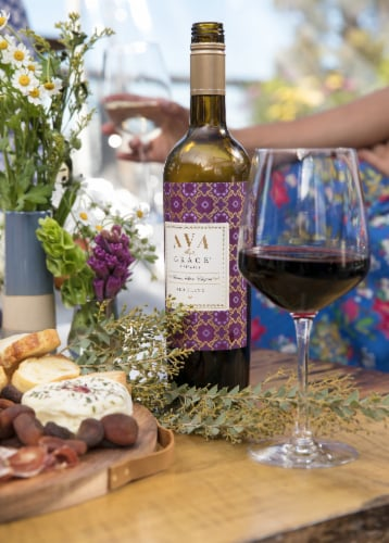 Ava Grace Vineyards Red Blend Wine Perspective: top