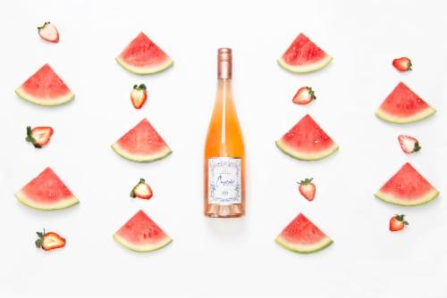 Cupcake Vineyards Rose Wine Perspective: top