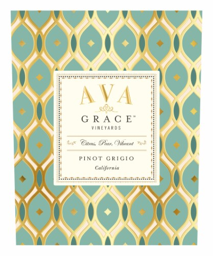 Ava Grace Pinot Grigio White Wine Perspective: top