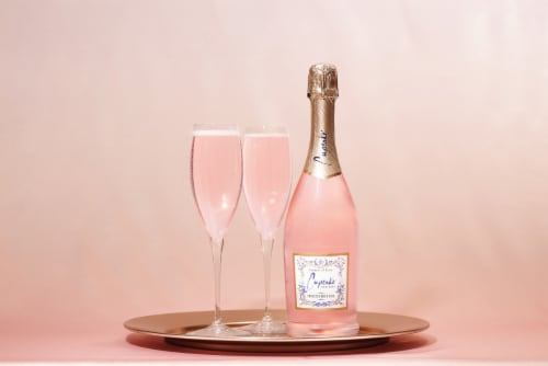 Cupcake Vineyards Prosecco Rose Wine Perspective: top