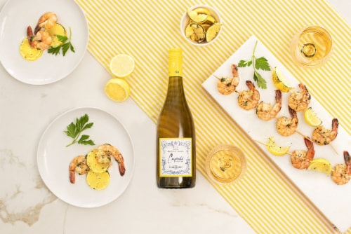 Cupcake Vineyards Chardonnay White Wine Perspective: top