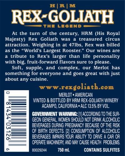 Rex-Goliath Merlot Red Wine Perspective: top