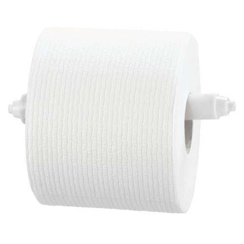 iDesign Toilet Paper Insert - White Perspective: top