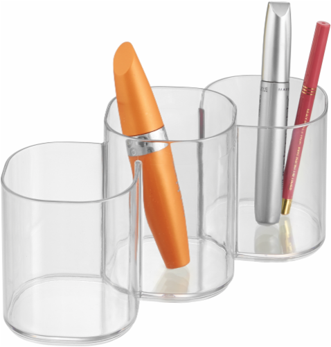 iDesign Clarity Cosmetic Trio Organizer Cup - Clear Perspective: top