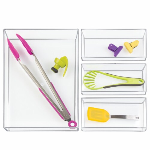 iDesign Clarity Organizer Set - Transparent Perspective: top