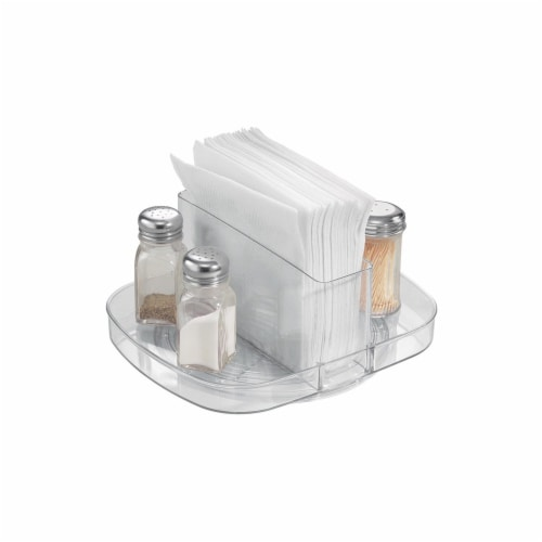 iDesign Linus Napkin Spinner - Clear Perspective: top