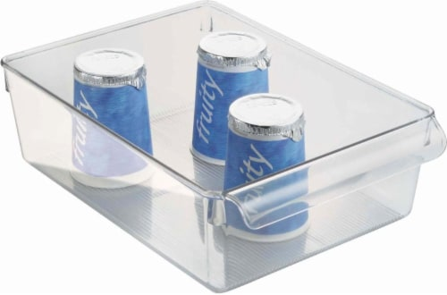 iDesign Linus Pullz Organization Bin - Clear Perspective: top