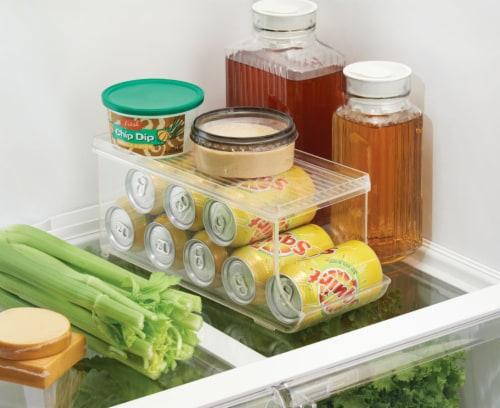 iDesign Fridge Binz Beverage Can Organizer Perspective: top
