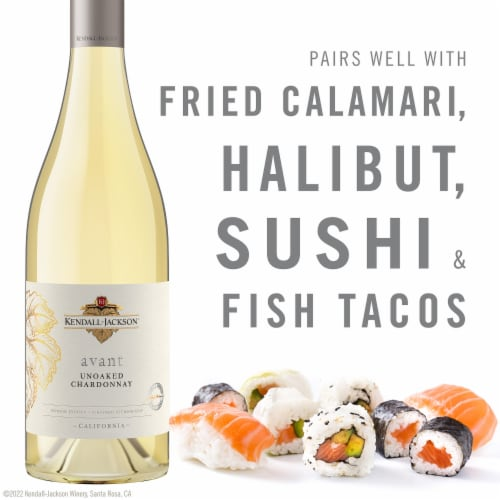Kendall-Jackson Avant Unoaked Chardonnay White Wine Perspective: top