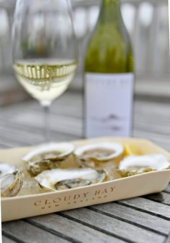 Cloudy Bay Sauvignon Blanc New Zealand White Wine Perspective: top