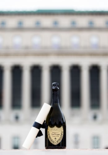 Dom Perignon Vintage Champagne Perspective: top