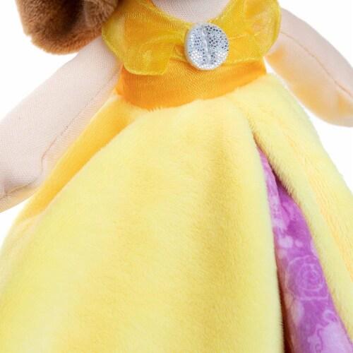 "Disney Princess Belle Blanky Plush, 12"" Perspective: top"