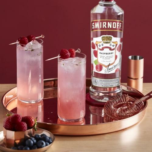 Smirnoff Raspberry Vodka Perspective: top