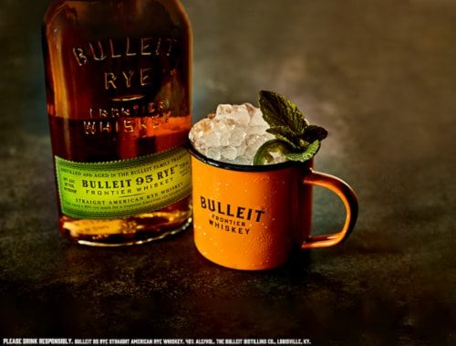 Bulleit 95 Rye Straight American Rye Whiskey Perspective: top