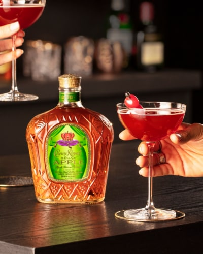 Crown Royal Regal Apple Flavored Whisky Perspective: top