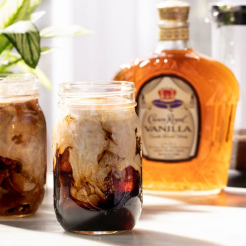 Crown Royal Vanilla Flavored Canadian Whisky Perspective: top