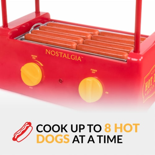 Nostalgia Hot Dog Roller and Bun Warmer Perspective: top