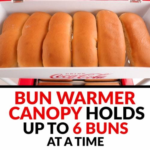 Nostalgia Coca-Cola Hot Dog Roller & Bun Warmer Perspective: top