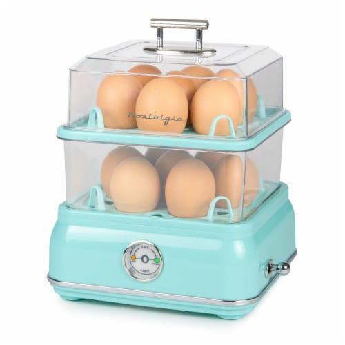 Nostalgia Classic Retro Egg Cooker - Aqua Perspective: top