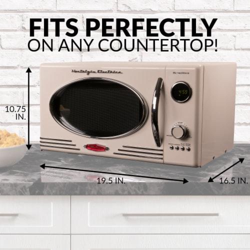 Nostalgia Retro Countertop Microwave Oven - Ivory Perspective: top
