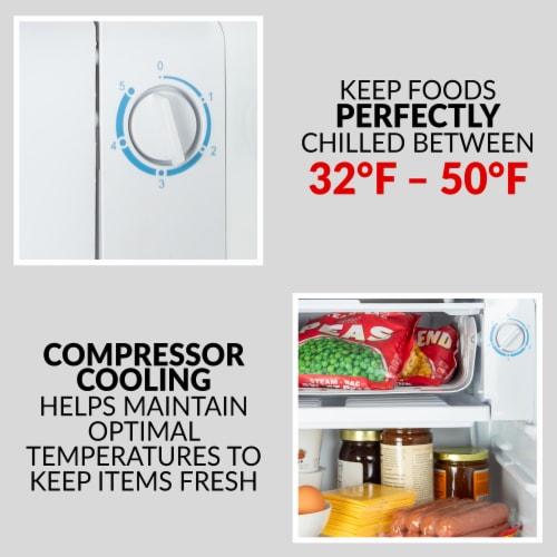 Coca-Cola Refrigerator with Freezer - Black Perspective: top