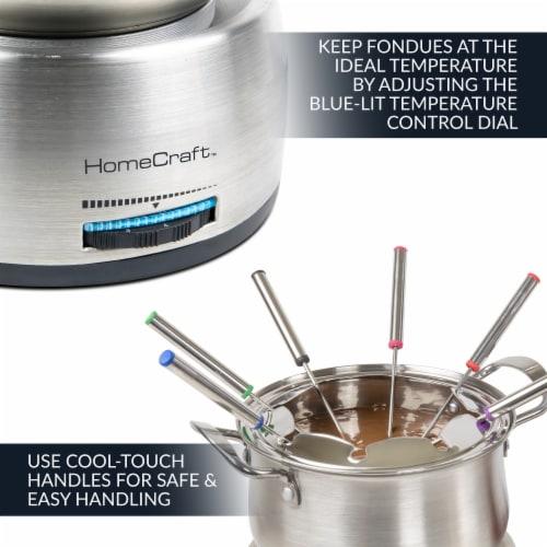 HomeCraft Electric Fondue Set - Silver Perspective: top