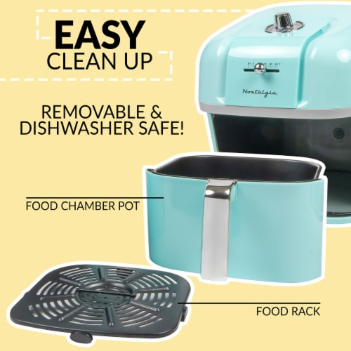 Nostalgia Classic Retro Air Fryer - Turquoise Perspective: top