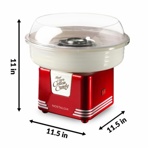 Nostalgia Retro Hard Candy & Cotton Candy Maker - Red/White Perspective: top