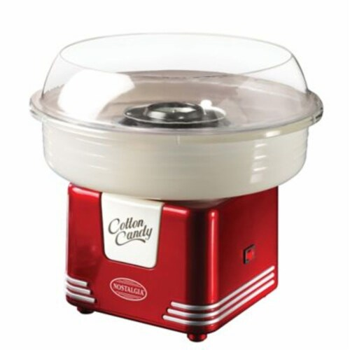 Nostalgia Retro Hard and Sugar Free Candy Cotton Candy Maker Perspective: top
