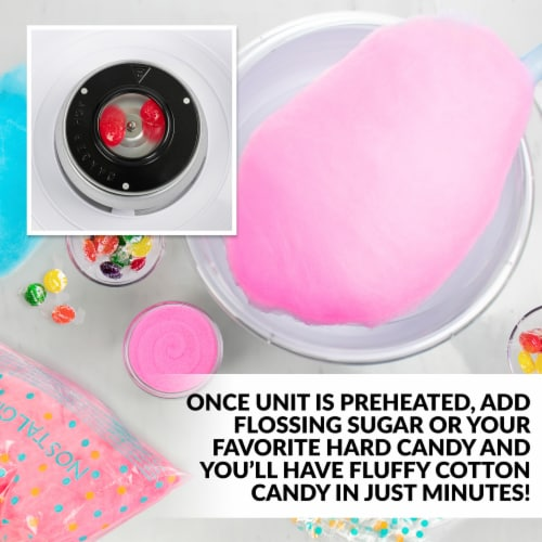 Nostalgia Retro Hard & Sugar-Free Candy Cotton Candy Maker Perspective: top