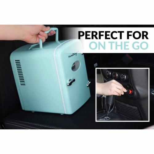Nostalgia Retro Mini Refrigerator - Aqua Perspective: top