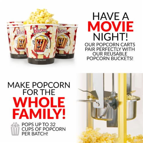 Nostalgia Vintage Commercial Popcorn Cart Perspective: top