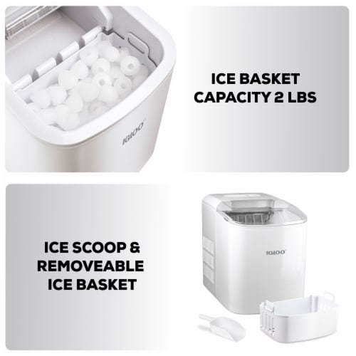Igloo Automatic Portable Countertop Ice Maker - White Perspective: top