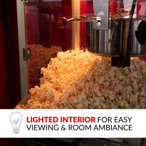 Nostalgia Vintage Professional Popcorn Cart - Black Perspective: top