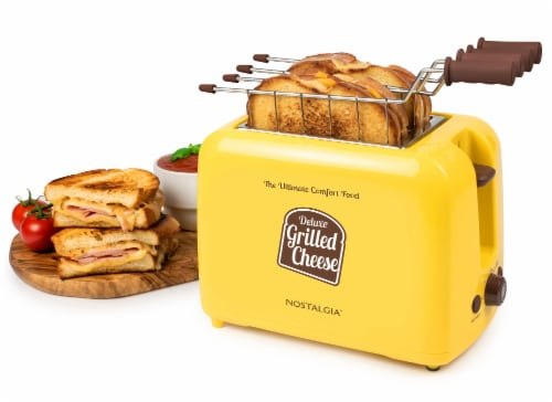 Nostalgia Deluxe Grilled Cheese Sandwich Toaster Perspective: top