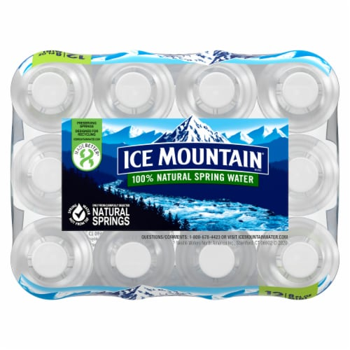 Ice Mountain Natural Spring Water Perspective: top