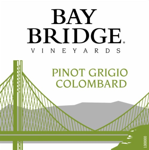 Bay Bridge Pinot Grigio White Wine Perspective: top