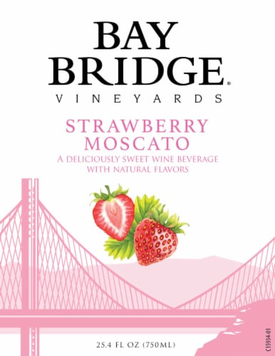 Bay Bridge Strawberry Moscato Wine Perspective: top