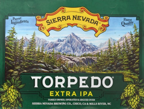 Sierra Nevada Brewing Co. Torpedo Extra IPA Perspective: top
