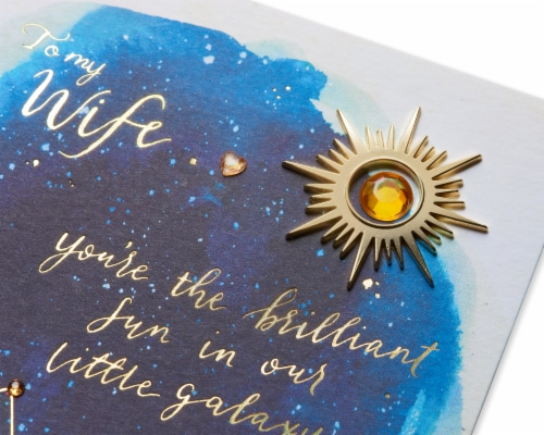 Papyrus Mother's Day Card for Wife (Our Little Galaxy) Perspective: top