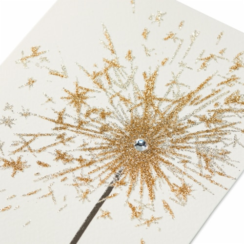 Papyrus Birthday Card (Sparkler) Perspective: top