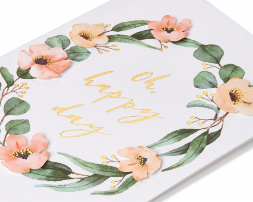 Papyrus Bridal Shower Card (Happy Day) Perspective: top