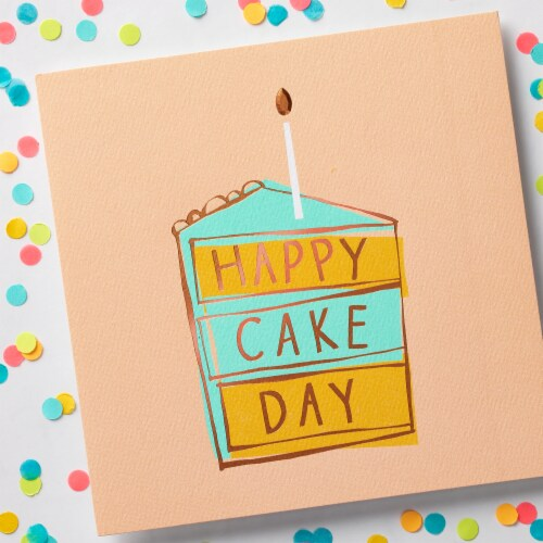 American Greetings Birthday Card (Cake Day) Perspective: top