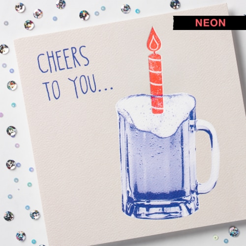 American Greetings Birthday Card (Cheers To You) Perspective: top