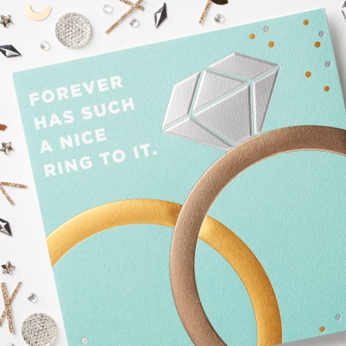 American Greetings Anniversary and Wedding Card (Forever) Perspective: top