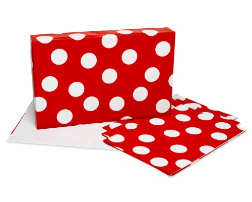 American Greetings Wrapping Paper Sheets with Gridlines Stripes and Polka Dots Perspective: top