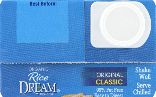 Rice Dream Organic Original Classic Rice Drink Perspective: top