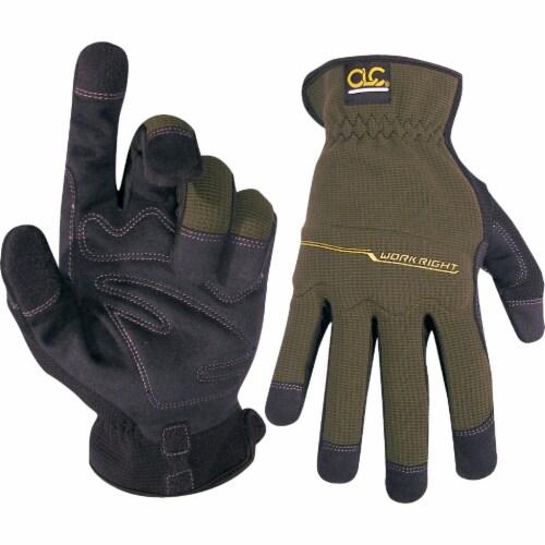 CLC Workright OC Men's XL Spandex Flex Grip Work Glove 123XL Perspective: top
