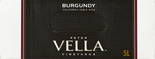 Peter Vella Burgundy Red Box Wine Perspective: top